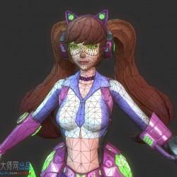 科幻风PBR大作 枪战英雄角色模型