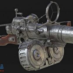 Maya概念武器道具高精度模型制作全流程教程 - Futuristic Weapon Creation