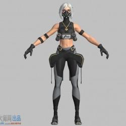 一个堡垒之夜的女模型FBX格式
