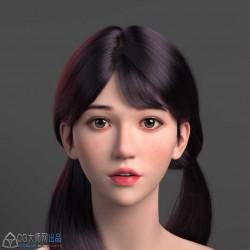 精致的唯美的女生3d头像模型作品收集99P