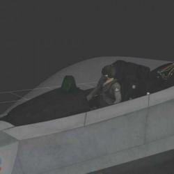 一款高精度战斗机模型带贴图素材