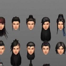 武侠风男女发型