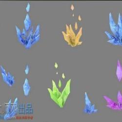 好看的三渲二水晶模型