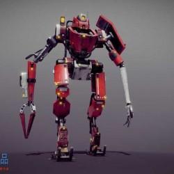 一个精美机器人 机械小子模型
