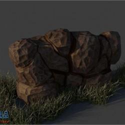 3D石头一块