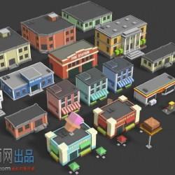 unity3d卡通建筑房子模型Simple Buildings - Cartoon City101