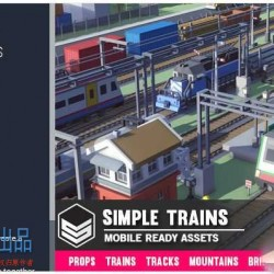 unity3d-简单的卡通火车3D模型-Simple Trains - Cartoon Assets