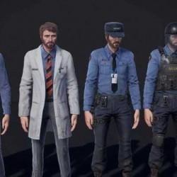 【UE素材】 Personnel 工人 警察 经理 消防员 等