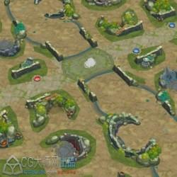 王者荣耀全网首现的大地图+部分PVP地图组件!不是最新的!