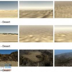 50多种3D自然山体海岛等山地雪山高原等模型