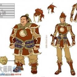 中国风玄幻游戏精华版角色、动作源文件,解压后2.54G