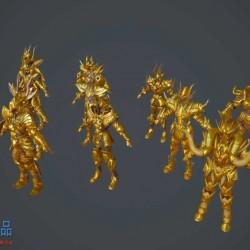 【圣斗士星矢OL】首发! 十二宫黄金神圣衣!