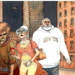 New York-sur-Loire 全一册 Nicolas de Crécy 欧美幻想手绘插画集