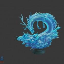 冰龙 平台 场景 部件 中国风 武侠 仙侠 手绘低模
