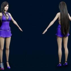 蒂法 舞裙模型