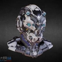 科幻机甲 挑战赛模型 质感一流超酷的战甲头盔 次时代3d模型