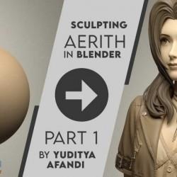 Blender 高级三维教程 最终幻想女主角3d美女制作学习资源