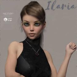 马尾女孩多组眼妆光束身体形态3D模型