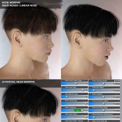 帅气潇洒不同姿势眉毛眼球表情男性青少年3D模型合集