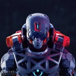 PBR次时代科幻未来宇宙太空机甲战士外骨骼装甲