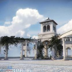 城市复古小二楼岗亭门庭建筑环境场景3D模型合集