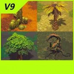 【魔兽争霸3-重制版】植被-花草树木-合集-Unity-FBX-MAX V9