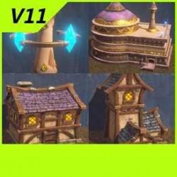 【魔兽争霸3-重制版】【人类】【血精灵】建筑合集-Unity-FBX-MAX V11