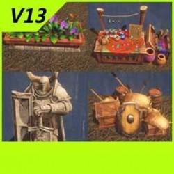 【魔兽争霸3-重制版】【人族城邦物件】-Unity-FBX-MAX V13