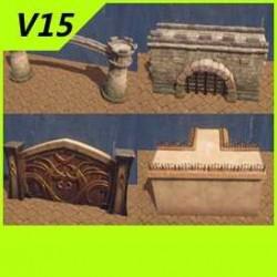 【魔兽争霸3-重制版】【城墙】【大门】物件-Unity-FBX-MAX V15