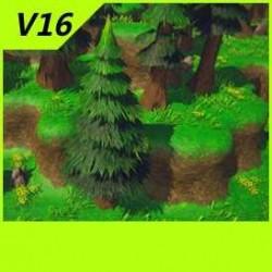 【魔兽争霸3-重制版】拼接平台-地表-人族洛丹伦夏季风貌场景-Unity-MAX V16