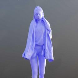 美利亚女性运动休闲摄影测量扫描捕捉3D模型