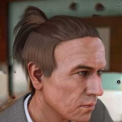 男士中长半马背头尾发型3D模型合集