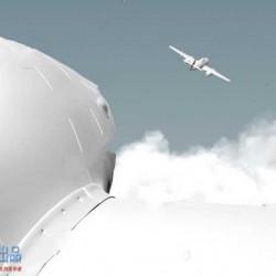 Houdini飞机穿云动态体积云烟雾特效场景工程源文件