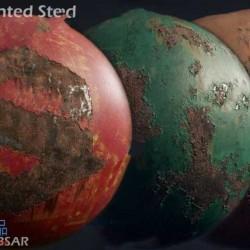 6组高品质Substance生锈涂漆钢铁金属材质合集
