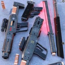 科幻战斗步枪武器道具3D模型合集
