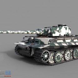 二战德国虎式坦克重型战车高精度3D模型