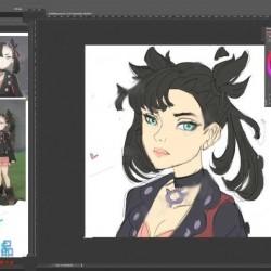 可爱双辫少女卡通角色数字绘画视频教程