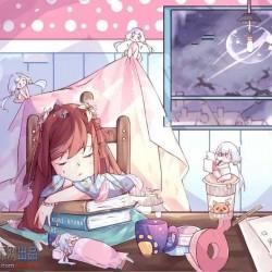 D站kuri-nyann画师二次元可爱大眼清纯美少女动漫人物