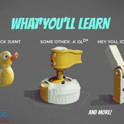 Blender机器人装配硬表面套索骨骼动画视频教程