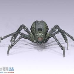 机械蜘蛛高模 mb obj stl格式
