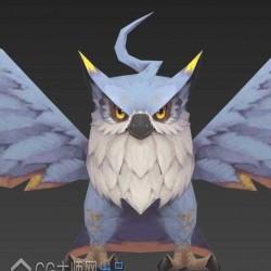 高质量 手绘 可爱 猫头鹰模型