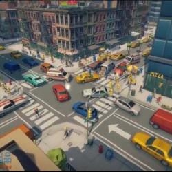 大都市完整场景细节人物建筑道具车辆等UE4游戏素材资源
