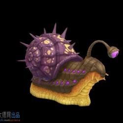 凶狠!不!是可爱独眼蜗牛模型 怪物  四种颜色贴图!