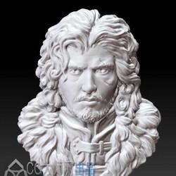 【ZBrush】冰与火之歌角色琼恩肖像3d模型资源