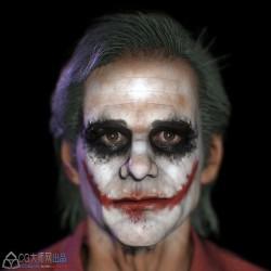 Jim Carrey As Joker 3D Model