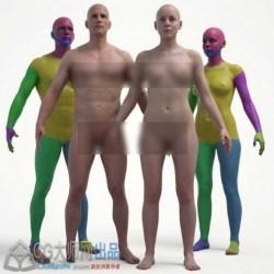 3D Scan Store价值$50的高精度男性女性模板模型