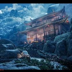 UE4虚幻4 Mountain Temple Modular Kit国风仙境城堡宫殿山脉场景 库文件