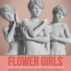 C4D模型-女性雕塑白模高清身体面孔三维模型