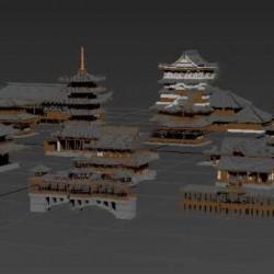 古代建筑宫殿太和殿日本江户城秦宫秦皇宫