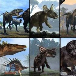 34个恐龙C4D模型含材质贴图(含绑定动画)